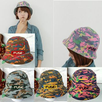 summer beach Camouflage fishing Floral Camo Outdoor military sun sports hunting cap fisherman bucket hat for men women