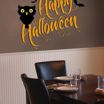 kcik1641 Full Color Wall decal greeting halloween coffee shop showcase