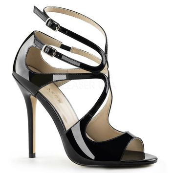 Pleaser Female 5 Inch Heel, Strappy Sandal With Cutout Detail AMU15