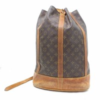 Authentic Louis Vuitton Shoulder Bag Randonnee GM M42244 Browns Monogram 28531