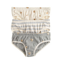 crewcuts Girls Underwear Three-Pack In Stripe Heart