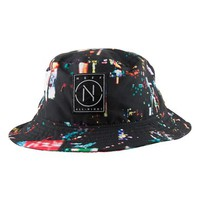 Men's Neff 'City Lights' Print Bucket Hat - Black