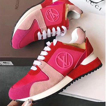 Louis Vuitton Women Girl Casual Flats Shoes Sneakers Sport Shoes Pink
