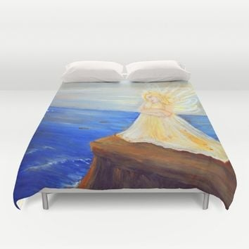 Invite your Angel | Angels are here Duvet Cover by Azima