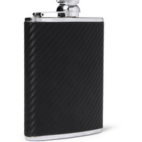 PRODUCT - Alfred Dunhill - Chassis Leather and Stainless Steel Hip Flask - 332806   MR PORTER