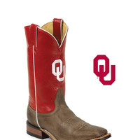 Men's Oklahoma Sooners Logo Boot