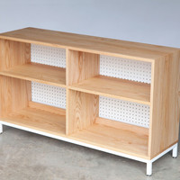 Book  //  Record Shelving | Solid Ash + Metal Base