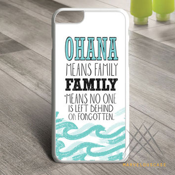 Lilo and Stitch Ohana Means Family  _Waterblaster Custom case for iPhone, iPod and iPad