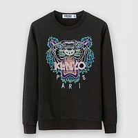 KENZO Woman Men Fashion Tiger Round Neck Pullover Top Sweater