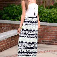 The Sweet Glow Maxi, Lime/Navy