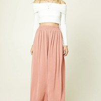 Contemporary Satin Maxi Skirt
