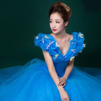 New Custom Made Women Halloween Cosplay Adult Princess Cinderella Costume Sexy Adult Cinderella Costume