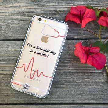 Beautiful Day to Save Lives Phone Case for iPhone 6