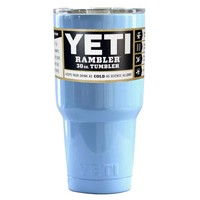 Custom YETI Baby Powder Blue 30 oz Rambler Tumbler