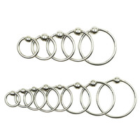 Stainless Steel Captive Bead Ring Lip Labret Piercing Nipple Ring Nose Stud Jewelry