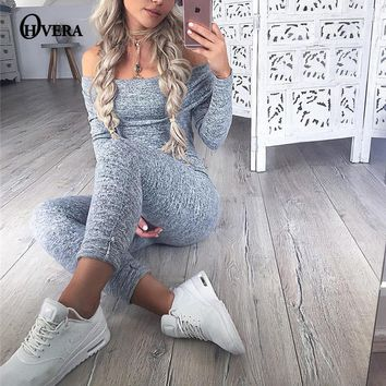 Jumpsuits For Women Sexy 2017 Summer New Arrival High Street Style bodycon Slash-Neck Off The Shoulder Jumpsuit Romper