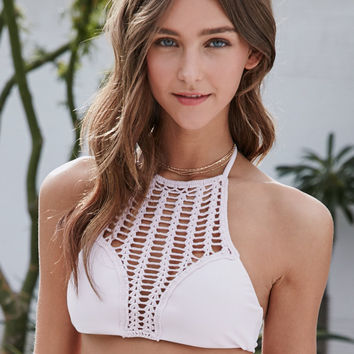 LA Hearts Open Crochet Cropped Bikini Top at PacSun.com