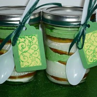 Pistachio Flavored Cake In A Jar Set Of 2 Saint Patricks Day Celtic Irish | Luulla
