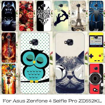 TAOYUNXI DIY Painted Silicone Phone Cover Case For Asus Zenfone 4 Selfie Pro ZD552KL 5.5 inc Flexible Housing Bag Skin Cover