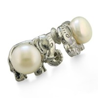 Elephant Shaped Freshwater Pearl Earrings