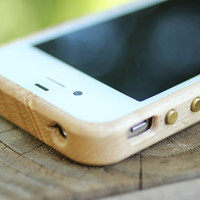 Wood iPhone 4/4S Case - Birdseye Maple, Handmade in the USA