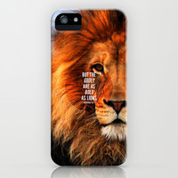BOLD AS LIONS iPhone & iPod Case by Pocket Fuel