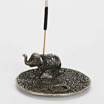 Metal Elephant Incense Holder- Bronze One