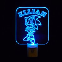 Personalized Sonic the Hedgehog LED Night Light