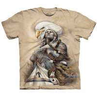 ETERNAL SPIRIT Native American T-Shirt Indian Teepee Eagle Sizes S-5XL NEW!