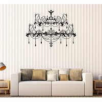 Vinyl Wall Decal Chandelier Lighting Light Decorating Room Stickers Unique Gift (266ig)
