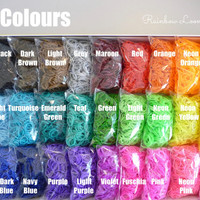 30 Pack - Bright Colours -Rainbow of Colours Available Loom Bands 9000 + 750 clips