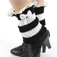 Laced Top Leg Warmer