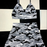 SWEET LORD O'MIGHTY! CAMO BABY SKIRT IN GREY