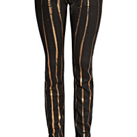 Darkside Metallic Striped Low Rise Skinny Jeans (Zadig & Voltaire)