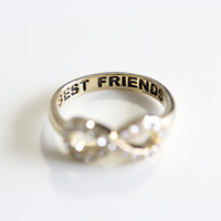 best friend infinity ring | final sale