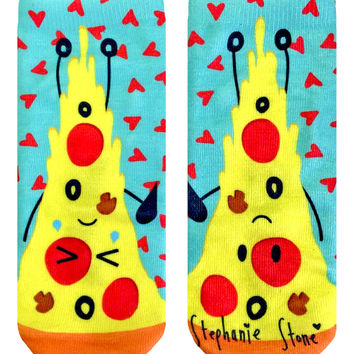Steph Stone Pizza Friends Ankle Socks