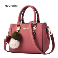 Nevenka Women Bag Pu Leather Tote Brand Name Bag Ladies Handbag Lady Evening Bags Solid Female Messenger Bags Travel Fashion Sac