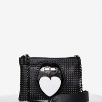 Nasty Gal Mouth Off Leather Studded Bag