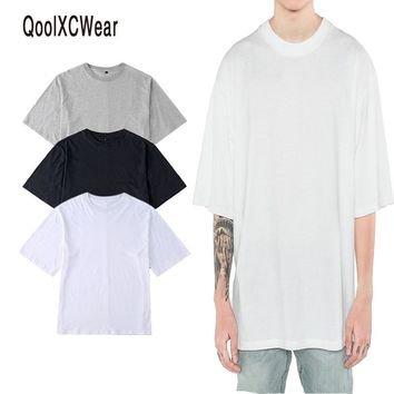 QoolXCWear  2017 NEW hiphop  t shirts men oversized t shirt  kanye justin bieber hiphop t shirt