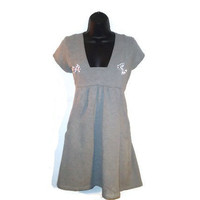 Altered Gray Dress Tunic Maternity Top Juniors Clothing Large