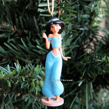 Licensed cool 2015 Disney Aladdin Movie PRINCESS JASMINE Genie Outfit Christmas Ornament PVC