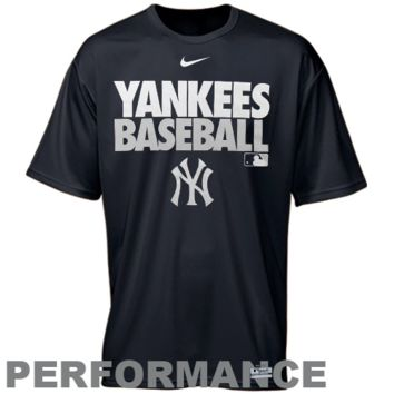 Nike New York Yankees Graphic Dri-FIT Performance T-Shirt - Navy Blue