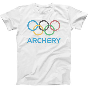 Olympic Archery - Mens Fitted Cotton Crew T-shirt