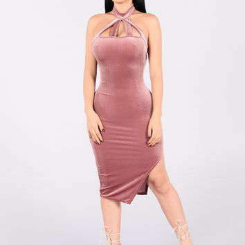 Make Me Sway Dress - Mauve