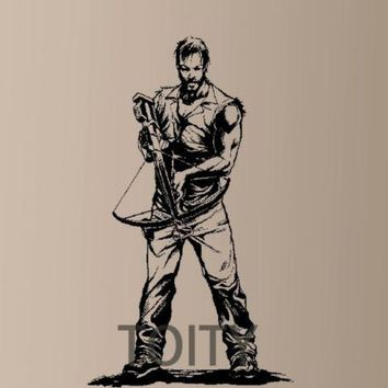 Daryl Dixon Vinyl Sticker Walking Dead Rick Grimes Negan Zombie Crossbow Walker