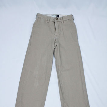 Gap Easy Fit Flat Front Khaki Pants, size 6
