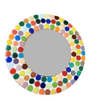 Colorful Round Mosaic Mirror