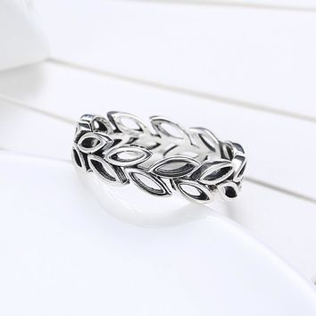 925 Sterling Silver Ring Olive branch hollow ring women's PDRSVR 177