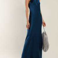 Sienna halterneck silk gown | Galvan | MATCHESFASHION.COM US