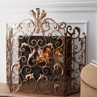 Acanthus Fireplace Screen - Neiman Marcus